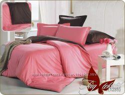 Двуспальные комплекты постельного белья однотонные ткань поплин
