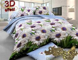 Комплекты постельного белья ткань поликоттон с Зd эффектом