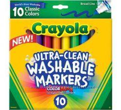 Crayola Washable смываемые фломастеры