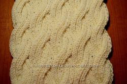 Шикарный зимний шарф, снуд ручной работы