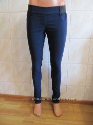 Классные темно-синие брюки на резинке от tally weijl