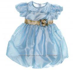 Платье нарядное праздничное голубое костюм незабудки колокольчика капельки