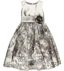 Шикарное нарядное праздничное серебряное платье на девочку Rodeng Качество