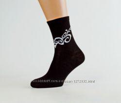 Женские носки, демисезон, хлопок. Украина. Разные цвета, размер 36-40.
