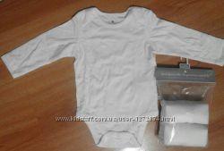 боди с длинным рукавом Gap р. 75 см 8-10 кг комплект 3 штуки