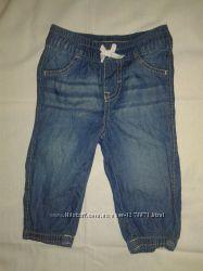 Легкие летние джинсы на девочку р. 6-9 мес. Little Wonders