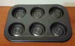 Форма для выпечки кексов 6 шт