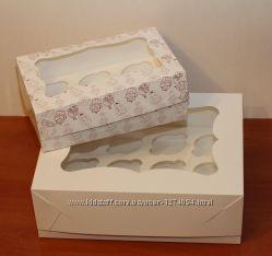 Коробка для капкейков, кексов и маффинов