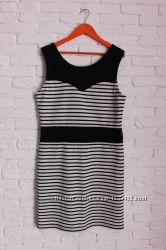 Черно-белое платье в полоску Amisu