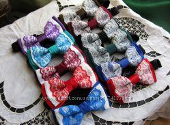 Галстуки-бабочки для девочек кружево