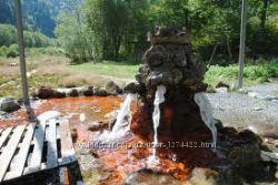 Оленёво минеральная вода из источника, тип Боржоми, природная, свежая, жива