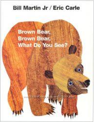 детская книга на английском Brown Bear, Brown Bear, What Do You See
