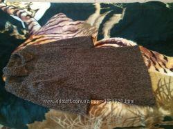 Пальто шерстяное коричневое демисезонное