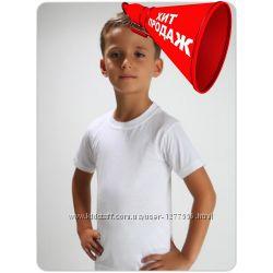 Белая футболка детская Хлопок без синтетики