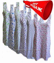 Ночная рубашка Бабушкина сорочка хб от 48 до 64 размера Опт цена