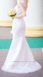 Свадебное платье А-силует. Не венчаное. Состояние отличное.