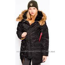 Куртка женская Аляска N-3B W PARKA зимняя  Альфа Индастриз Alpha industries