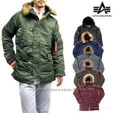 США Оригинал Зимняя куртка Аляска Slim fit N-3B Alpha industries Слим Фит