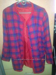 пальто отличное теплое 44р