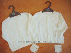 Кофта белая на пуговицах Mothercare, 100 Хлопок, новая, в наличии 2 размера