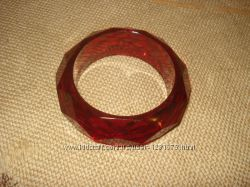Стильная бижутерия бу, браслет рубиновый.