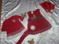 К первому Новому году маленьким принцессам платья 3-6 мес.
