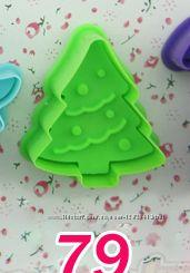 Акция Новогодние Формочки пластикове для выпечки печенья, 3D печенье