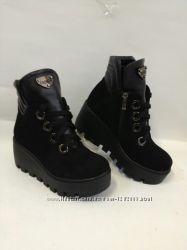 Новая моделька Ботинки из натуральной замши и кожи  Демисезонные и зимние
