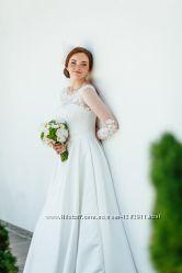 свадебное платье, цвет айвори, новое
