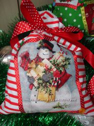 новогодний подарочный мешочек