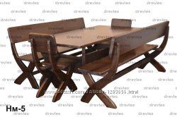 Набор садовой мебели из дерева  Код Нм-5