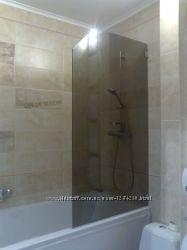 Перегородка на ванну стеклянная