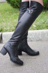 Женский кожаный классический сапог