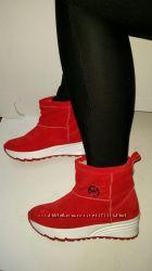 кожаные ботинки, угги