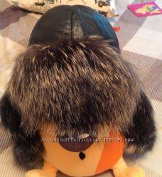 шапка с чернобурки
