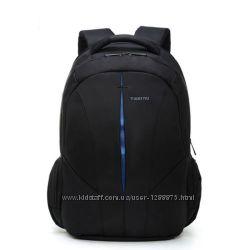 Рюкзак городской tigernu 3105 черный с синим Совместим с ноутбуком15. 6
