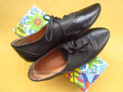 Кожаные легусенькие мягкие туфли мокасины, р. 39