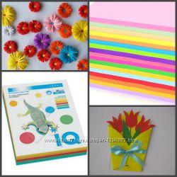 Микс цветов - Цветная бумага Ассорти 200 листов