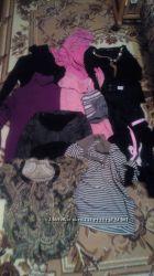 пакет вещей, свитера, штаны, шапка, кофты,