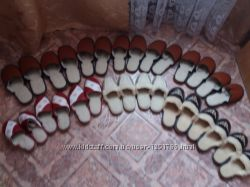 Кожаные тапочки на овчине для дома. р. 36-46. Готовим подарки на НГ.
