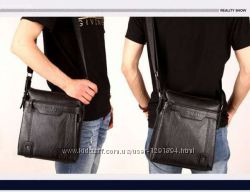 Новинка Винтажная мужская кожаная сумка Polo Videng. Топ Цена Акция