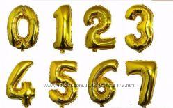Надувные шары цифры фольгированные, шапочки и прочее  на День рождения