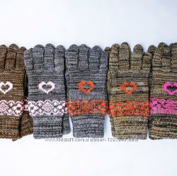 Перчатки с сердечками