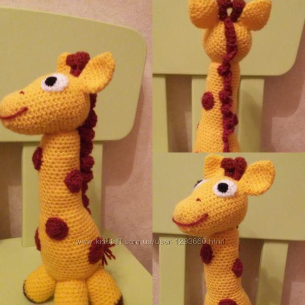 Жираф вязаный