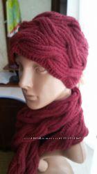 Шапка  шарф женский