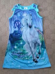 Платья летние с лошадками 7-9лет