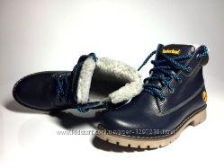 Ботинки Timberland зимние  кожаные натуральные