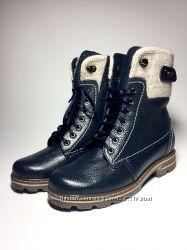 Ботинки Кожаные Зима Натуральные В  Наличии