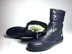 Ботинки Nike Зимние Кожаные Натуральные