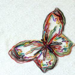 Нашивка на одежду или ткань. Бабочка
